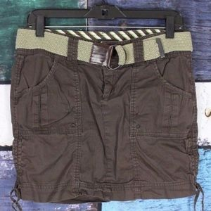 Maurices 100% Cotton Belted Cargo Utility Skirt